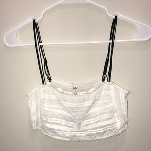 Free people lace white bralette. NWT